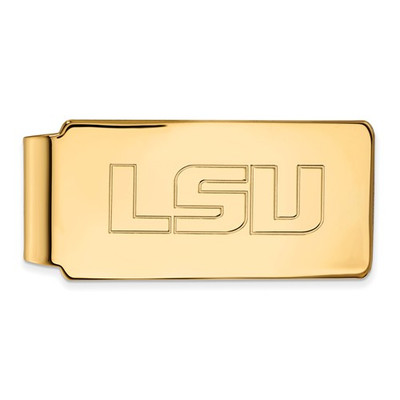 LSU Tigers 14K Gold Money Clip | Logo Art | 4Y019LSU