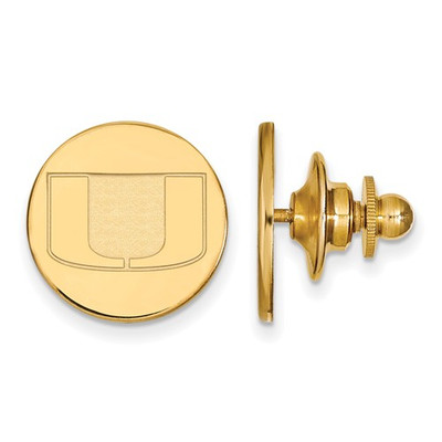 Miami Hurricanes U Logo 14K Gold Lapel Pin | Logo Art | 4Y011UMF