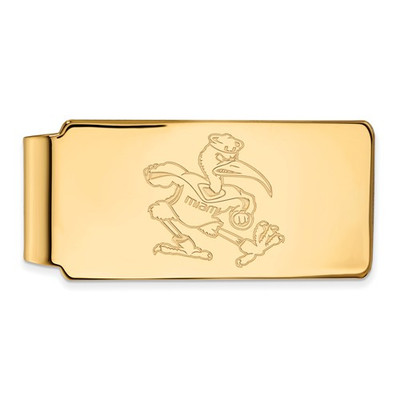 Miami Hurricanes Sebastian Ibis 14K Gold Money Clip | Logo Art | 4Y063UMF