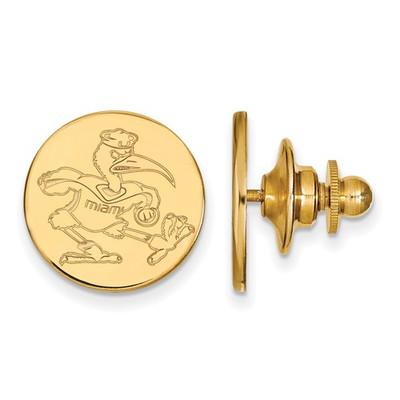 Miami Hurricanes Sebastian Ibis 14K Gold Lapel Pin | Logo Art | 4Y052UMF