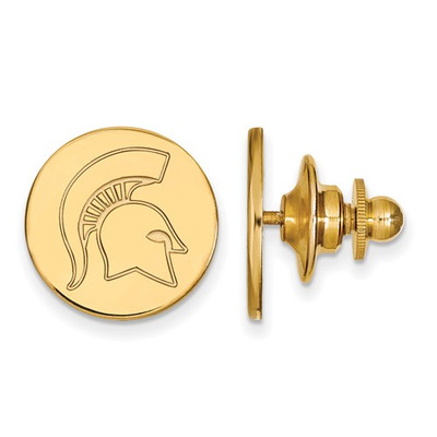 MSU Spartans Helmet Logo 14K Gold Lapel Pin | Logo Art | 4Y052MIS