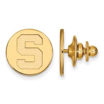 MSU Spartans S Logo 14K Gold Lapel Pin | Logo Art | 4Y011MIS
