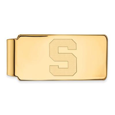 MSU Spartans S Logo 14K Gold Money Clip | Logo Art | 4Y025MIS