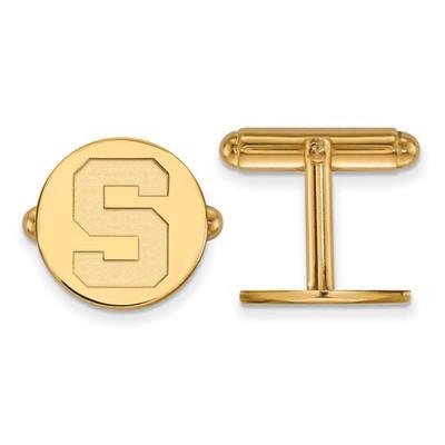 MSU Spartans S Logo 14K Gold Cufflinks | Logo Art | 4Y012MIS