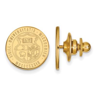 Missouri School Crest Tigers 14K Gold Lapel Pin | Logo Art | 4Y064UMO