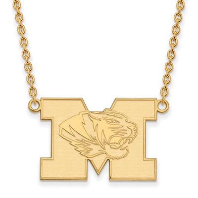 Missouri Tigers 14K Gold M Pendant Necklace | Logo Art | 4Y059UMO-18