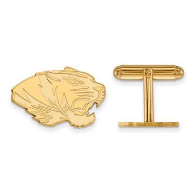 Missouri Tigers 14K Gold Tiger Cufflinks | Logo Art | 4Y046UMO