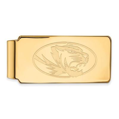 Missouri Tigers 14K Gold Money Clip | Logo Art | 4Y025UMO
