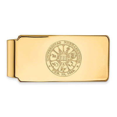 Nebraska Crest 14K Gold Huskers Money Clip | Logo Art | 4Y047UNE