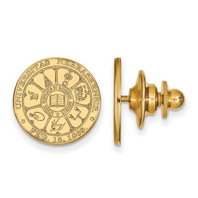 Nebraska Crest 14K Gold Huskers Lapel Pin | Logo Art | 4Y045UNE