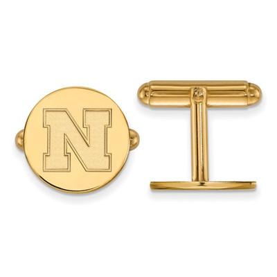 Nebraska Huskers N Logo 14K Gold Cufflinks | Logo Art | 4Y086UNE