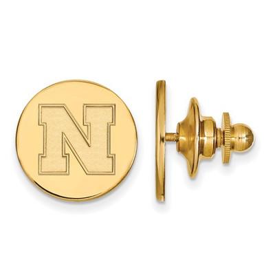 Nebraska Huskers N Logo 14K Gold Lapel Pin | Logo Art | 4Y072UNE
