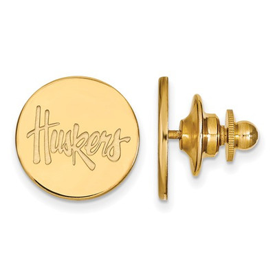 Nebraska Huskers Script 14K Gold Lapel Pin | Logo Art | 4Y064UNE