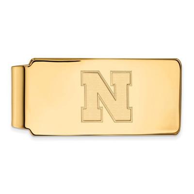 Nebraska Huskers N Logo 14K Gold Money Clip | Logo Art | 4Y052UNE