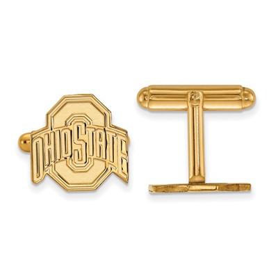 Ohio State Buckeyes 14K Gold OSU Cufflinks | Logo Art | 4Y012OSU