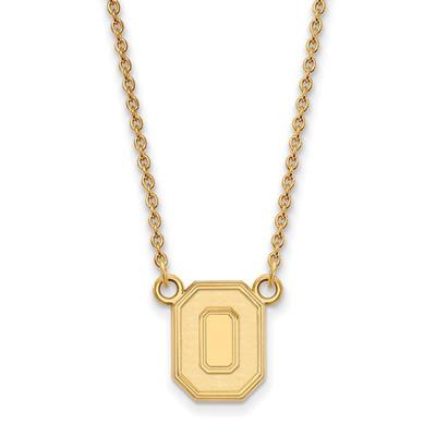 Ohio State Buckeyes 14K Gold O Pendant Necklace | Logo Art | 4Y053OSU-18