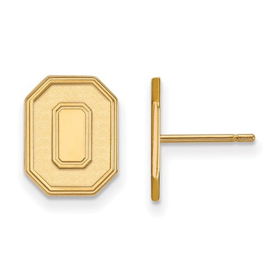 Ohio State Buckeyes 14K Gold O Post Earrings | Logo Art | 4Y052OSU
