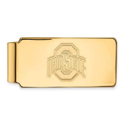 Ohio State Buckeyes OSU 14K Gold Money Clip | Logo Art | 4Y025OSU