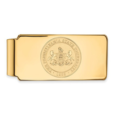 Penn State University Crest 14K Gold Money Clip | Logo Art | 4Y046PSU
