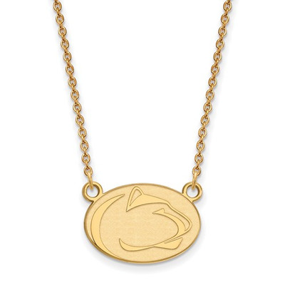 Penn State Nittany Lions 14K Gold Pendant Necklace | Logo Art | 4Y018PSU-18