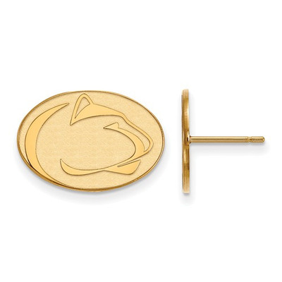 Penn State Nittany Lions 14K Gold Post Earrings | Logo Art | 4Y013PSU