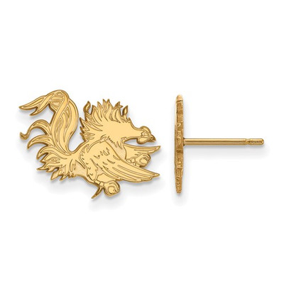 SC Gamecocks Mascot 14K Gold Post Earrings | Logo Art | 4Y050USO