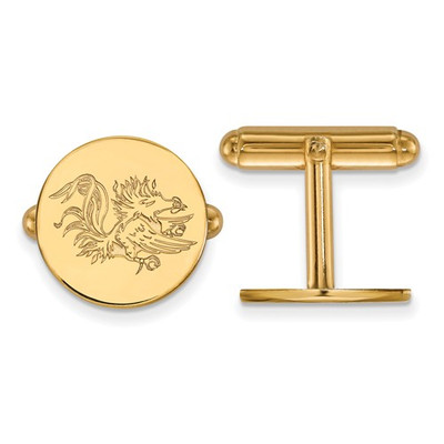 SC Gamecocks Mascot 14K Gold Cufflinks | Logo Art | 4Y052USO