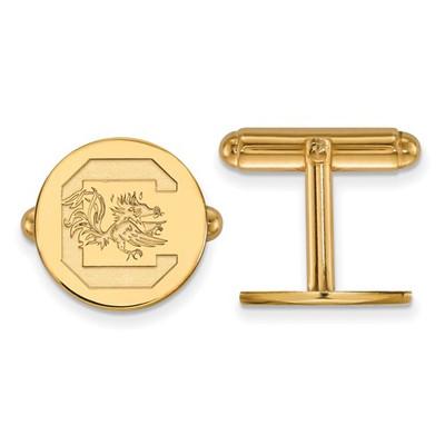 South Carolina SC Gamecocks 14K Gold Cufflinks   Logo Art   4Y012USO