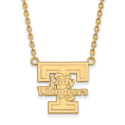 Tennessee Lady Volunteers 14K Gold Pendant Necklace | Logo Art | 4Y055UTN-18