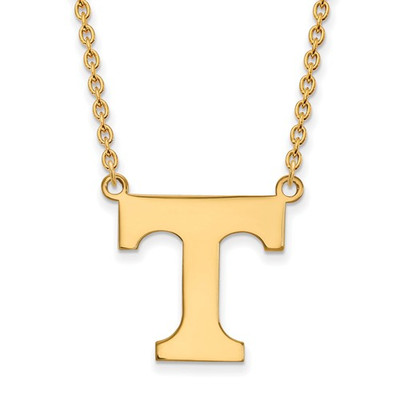 Tennessee Volunteers T 14K Gold Pendant Necklace | Logo Art | 4Y016UTN-18