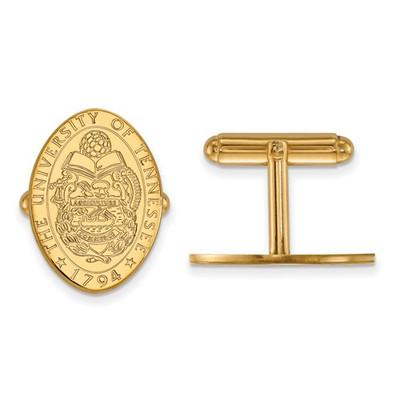 Tennessee Volunteers School Crest 14K Gold Cufflinks | Logo Art | 4Y074UTN