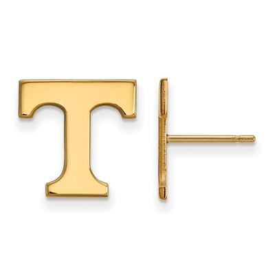 Tennessee Volunteers T 14K Gold Post Earrings | Logo Art | 4Y009UTN