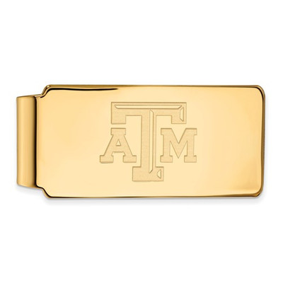 Texas A&M Aggies Letter Logo 14K Gold Money Clip | Logo Art | 4Y019TAM