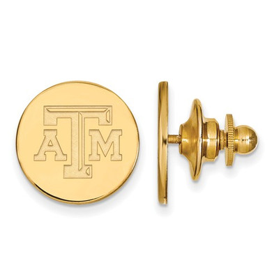 Texas A&M Aggies Letter Logo 14K Gold Lapel Pin | Logo Art | 4Y071TAM