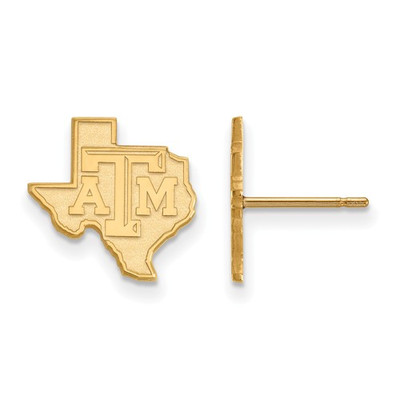Texas A&M Aggies 14K Gold State Post Earrings | Logo Art | 4Y047TAM
