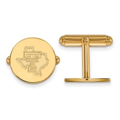 Texas Tech Red Raiders TT 14K Gold Cufflinks   Logo Art   4Y052TXT