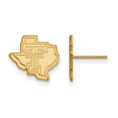 Texas Tech Red Raiders 14K Gold Post Earrings | Logo Art | 4Y050TXT