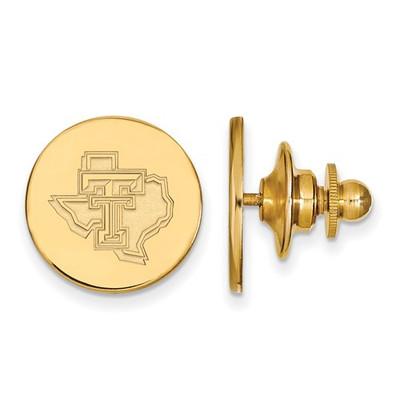Texas Tech Red Raiders 14K Gold Lapel Pin | Logo Art | 4Y051TXT