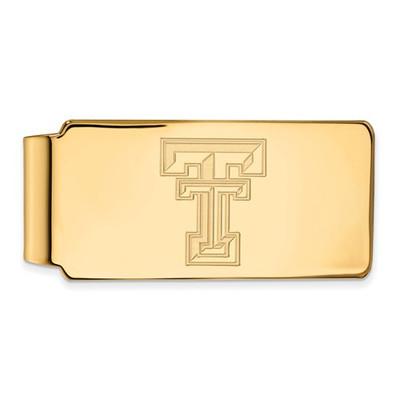 Texas Tech Red Raiders 14K Gold Money Clip | Logo Art | 4Y025TXT