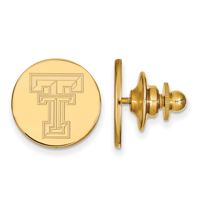 Texas Tech Red Raiders 14K Gold TT Lapel Pin | Logo Art | 4Y011TXT
