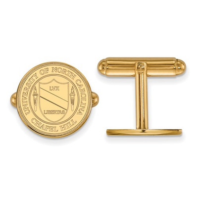North Carolina UNC Tarheels Crest 14K Gold Cufflinks | Logo Art | 4Y060UNC