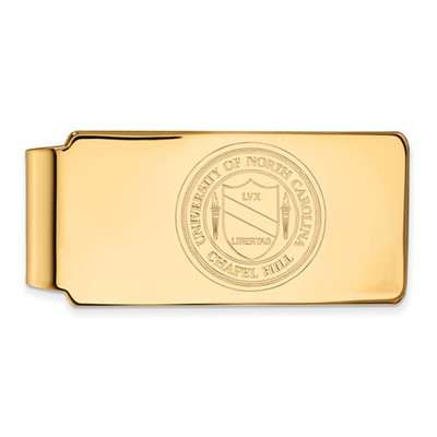 UNC School Crest Tarheels 14K Gold Money Clip | Logo Art | 4Y061UNC