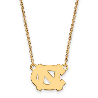 UNC Tarheels Logo 14K Gold Pendant Necklace | Logo Art | 4Y014UNC-18