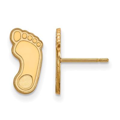 UNC Tarheels Foot Logo 14K Gold Post Earrings | Logo Art | 4Y048UNC