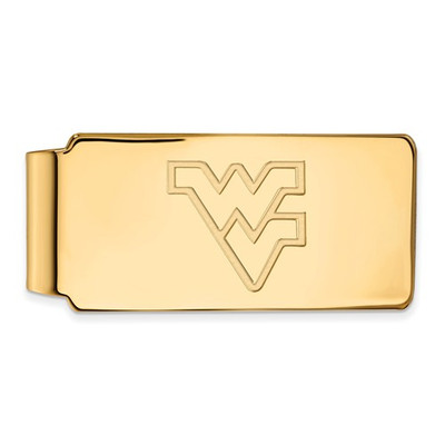 West Virginia Mountaineers 14K Gold WV Money Clip | Logo Art | 4Y025WVU