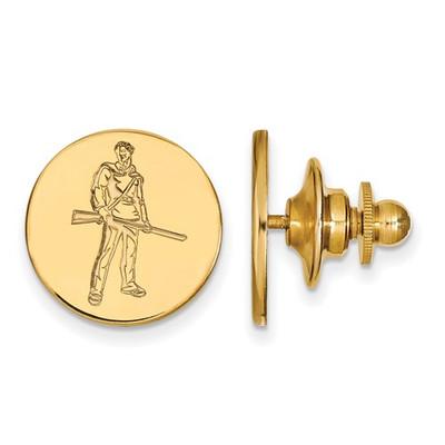 WV Mountaineers Mascot 14K Gold Lapel Pin | Logo Art | 4Y062WVU