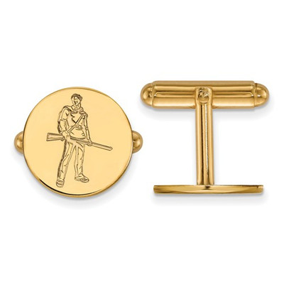 WV Mountaineers Mascot 14K Gold Cufflinks | Logo Art | 4Y056WVU