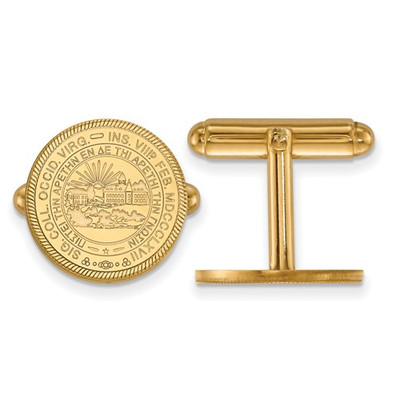 WV School Crest Mountaineers 14K Gold Cufflinks | Logo Art | 4Y052WVU