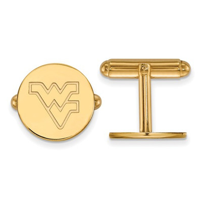 WV Mountaineers Letter Logo 14K Gold Cufflinks | Logo Art | 4Y012WVU