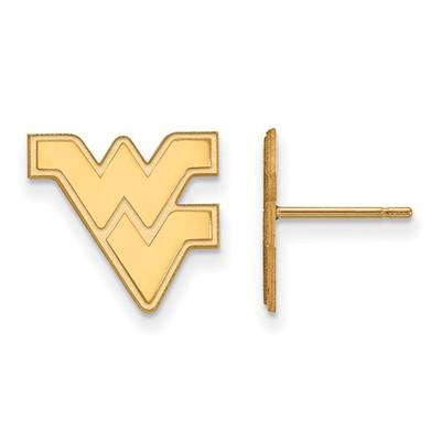 WV Mountaineers Logo 14K Gold Post Earrings | Logo Art | 4Y009WVU